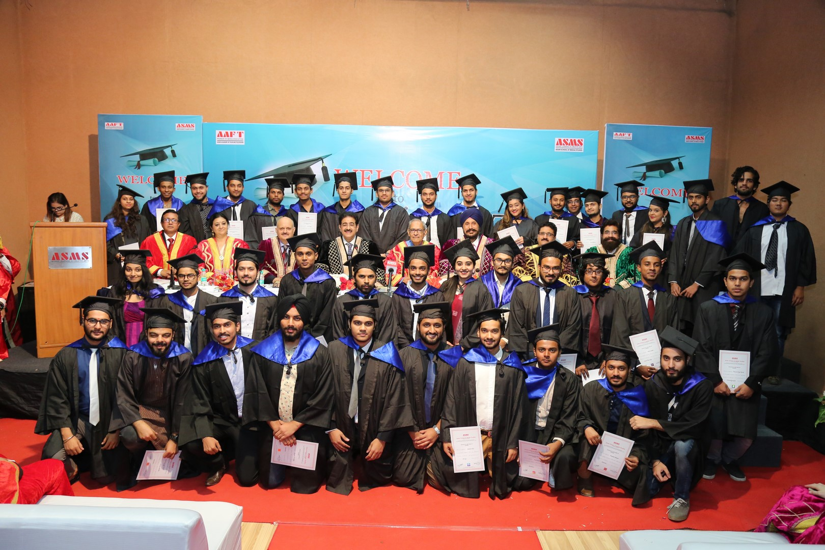 Final Year Batch of AAFT during Convocation ceremony